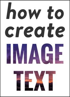 Photoshop tutorial - Image/Patterned text