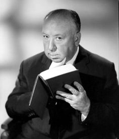 awesomepeoplereading:  Alfred Hitchcock reads.