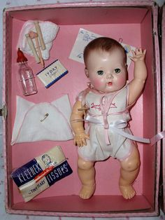 "13.5"" Molded Hair 1950s Tiny Tears Doll"