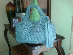 Cartera tejida en licra By Maggy/Dominican Republic