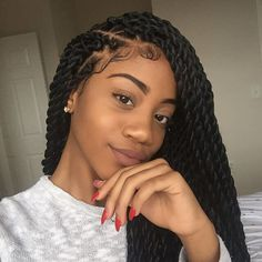B R A I D S ‼️‼️ Tresse torsadée, Coiffure vanille, Coiffure braids Box Braids Hairstyles, African Hairstyles, Protective Hairstyles, Girl Hairstyles, Protective Styles, Marley Twist Hairstyles, Crochet Twist Hairstyles, Black Girl Braided Hairstyles, Hairstyles 2016