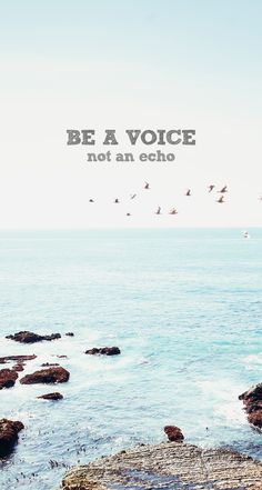 Be A Voice - #quotes iPhone wallpaper - @mobile9