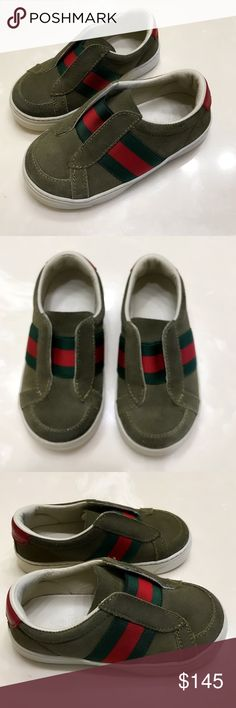 Gucci Signature baby boy sneakers tennis shoes 6 Authentic Gucci Signature baby boy suede leather sneakers tennis shoes 6 Euro 22. Excellent Condition have been waterproofed professionally to protect from wear/stains. Very light wear/marks Gucci Shoes Sneakers