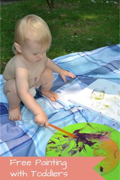 Free painting with toddlers - the benefits of painting for children