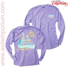 Super cute AOII Emporium Custom Chapter Order on Comfort Color Long Sleeves!! Alpha Omicron PI