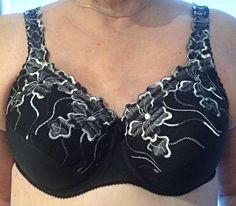 Black Dahlia mastectomy bra, complete with built in prosthesis; Mrs. Weaver's Finest Unmentionables
