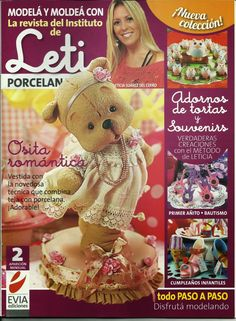 Cold Porcelain magazine 2 by Leticia Suarez del Cerro (Spanish) Projects Step by Step - Biscuit - Porcelanicron - Clay by AmGiftShoP on Etsy Magazine Crafts, Polymer Clay Animals, Polymer Clay Art, Clay Clay, Debbie Brown, Precious Moments Quotes, Spanish Projects, China Dinnerware Sets, Models