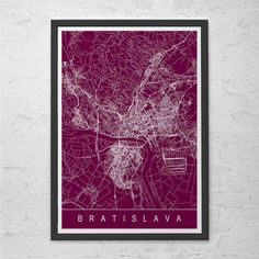 Hey, I found this really awesome Etsy listing at https://www.etsy.com/listing/236980442/bratislava-city-map-line-art-city-map