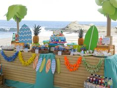 Surfin' Safari Surf themed birthday party via Kara's Party Ideas | KarasPartyIdeas.com #surfparty (21)