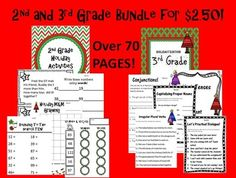 OVER 70 PAGES! 2nd and 3rd Grade Holiday BUNDLE Activities! Printables Common Core $2.50! Don't miss out, go to Lollipop Learning now on TpT! All products $2 or less!