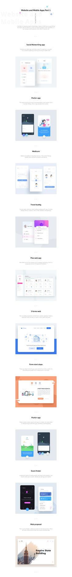 Website and Mobile Apps Part 1 on Behance