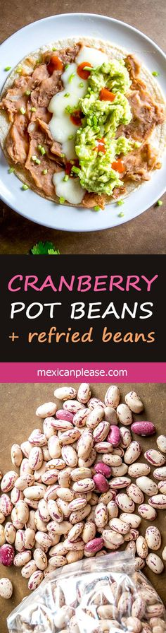 You can think of these Cranberry Beans as Pinto Beans Lite. They have a similar flavor to pintos but are creamier and slightly less 'beany'. Vegetarian Side Dishes, Healthy Side Dishes, Vegetable Side Dishes, Side Dish Recipes, Vegetable Recipes, Dinner Recipes, Lentil Recipes, Mexican Food Recipes, Healthy Recipes