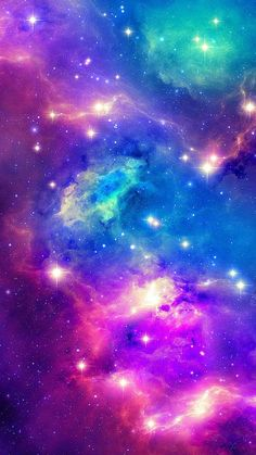stars, purple , cyan ,pink, blue, red