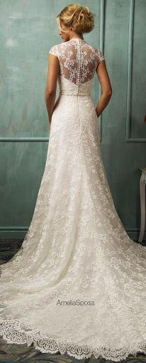 Vestidos de novia con encaje en la espalda