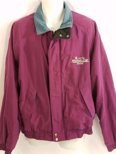 NASCAR Racing Winston Cup Series Magenta Swingster Jacket Size XL MADE USA VTG #WinstonCupSeries #Nascar