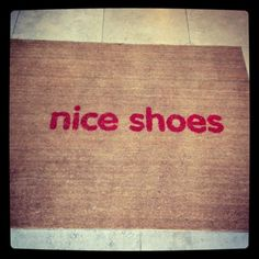 @Angela Boothe  door mat at the Innocent smoothie office... cute