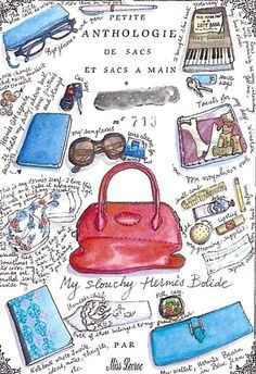 36161656cbf Miss Nathalie Lecroc purse illustrations Sketchbook Layout