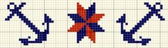 cross stitch border: anchors & compass star