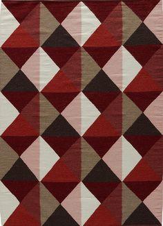 Elmhurst Ritner Red/Gray Area Rug