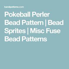 Pokeball Perler Bead Pattern   Bead Sprites   Misc Fuse Bead Patterns