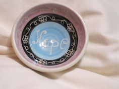 Little Bowl of Hope by ToshasPottery on Etsy, $10.00