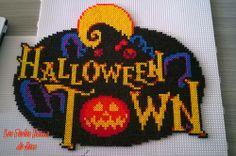 Halloween Town - Kingdom Hearts hama perler beads by Jessica Bartelet - Les perles Hama de Jess