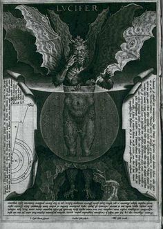 "Lucifer, by Alessandro Vellutello for ""Dante's Inferno"", Canto 34 Dante Alighieri, Sympathy For The Devil, Dantes Inferno, Satanic Art, Jesus Christus, Occult Art, Angels And Demons, Van Der Straeten, Dark Art"