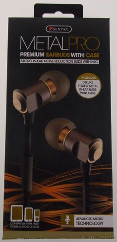 Sentry Metal Pro Premium Earbuds Mic Deluxe Case H3000 Tangle Proof 7mm Driver #Sentry