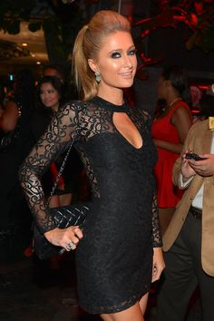 Paris Hilton attends the annual Midnight Grammy Brunch hosted by Ne-Yo and Malibu Red at Lure Nightclub on January 2014 in Hollywood, California. Paris Hilton Style, Paris And Nicole, Nicky Hilton, Business Dresses, Look At You, Celebrity Style, Celebrity Women, Celebs, Style Inspiration