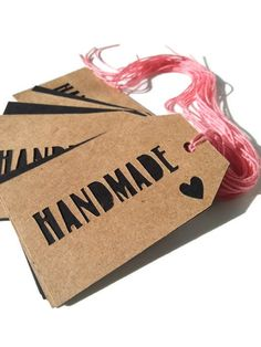 Handmade price tags with heart cut out on by brown kraft paper, price tags, personalized tags, gift tags. DamaskLaceDesign, $6.00