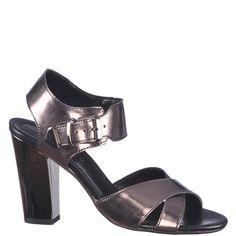 Sandale de dama, marca Thurley culoare gri inchis metalic. In ciuda tocului inalt de 10,3 cm sunt foarte flexibile si comode. Realizate din piele naturala atat in exterior cat si in interior, cu talpa sintetica usoara,recomandate pentru tinute elegante. Interior, Shoes, Fashion, Moda, Zapatos, Indoor, Shoes Outlet, Fashion Styles, Shoe