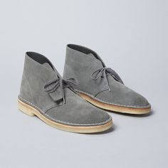 6876 x Clarks Originals collaboration Desert boots in grey suede
