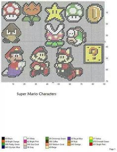 SUPER MARIO CHARACTERS - MAGNETS OR ORNAMENTS