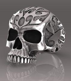 Skull ring. Sterling silver handmade skull ring.