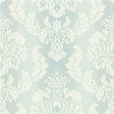 522-31607 Blue Damask Ombre String - Fairwinds Studio Wallpaper