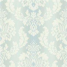 522-31607 Blue Damask Ombre String - Fairwinds Studio Wallpaper