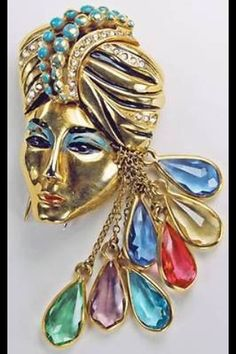 Eisenberg Original Sinbad fur clip, ca. 1940, designed by Ruth Kamke. Many reproductions; be careful if investing.