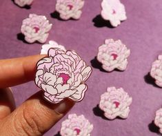 Buy Flower Enamel Pin at Wish - Shopping Made Fun Tatuaje Old School, Jacket Pins, Floral Pins, Hard Enamel Pin, Pin Enamel, Cool Pins, Pin And Patches, Piercings, Stickers