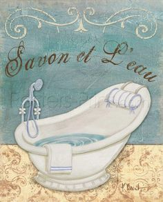 Parisian Bath II Art Print Poster by Paul Brent Online On Sale at Wall Art Store – Posters-Print.com