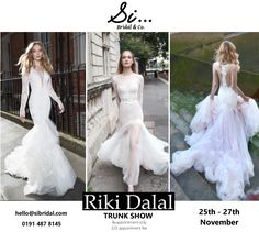 The most anticipated collection of the year, Mayfair by Riki Dalal - book now at www.sibridal.com to secure a spot for the trunk show #sibridal #rikidalal #mayfair #trunkshow #gateshead #newcastle #bride #bridal #weddingdress