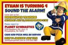 Free Printable Fireman Sam Invitations Fireman Birthday Ideas