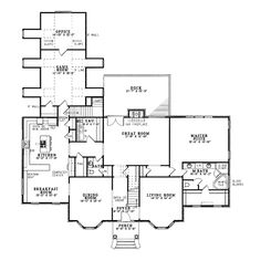 First Floor Plan of Colonial   Hillside   Southern   House Plan 61025 awesome storage