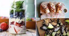 Ideas sabrosas, frescas y saludables para preparar platos muy ligeros, o para comer entre comidas.