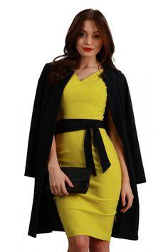 The Twilight Coat in Black #SpringCoat #SS15 #DivaCatwalk