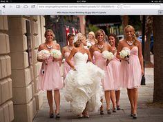 Pink bridesmaids dresses  cute dresses, cute photo