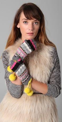 Juicy Couture Bowdoin Fair Isle Short Gloves - StyleSays