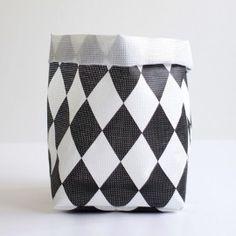 Corbeille de Rangement Small CIRCUS - Noir et Blanc
