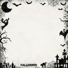 Halloween Borders for Stationary Halloween Dance, Disney Halloween, Fall Halloween, Halloween Crafts, Halloween Party, Halloween Borders, Halloween Templates, Halloween Images, Borders For Paper