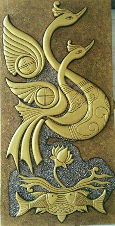 56 Ideas painted bird sculpture for 2019 Clay Wall Art, Mural Wall Art, Mural Painting, Cool Paintings, Fabric Painting, Clay Art, Sculpture Painting, Pottery Painting, Murals