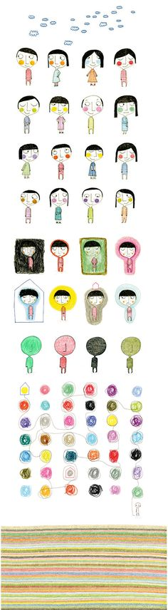 Csil Cb : Portfolio : Portfolio simple cartoon illustration , contemporary world ...little people xamples